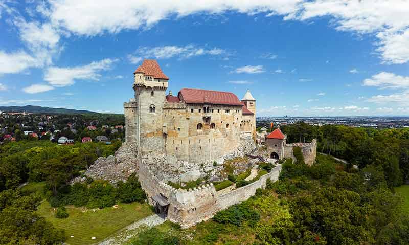 Liechtenstein Castle with surrounding green countryside