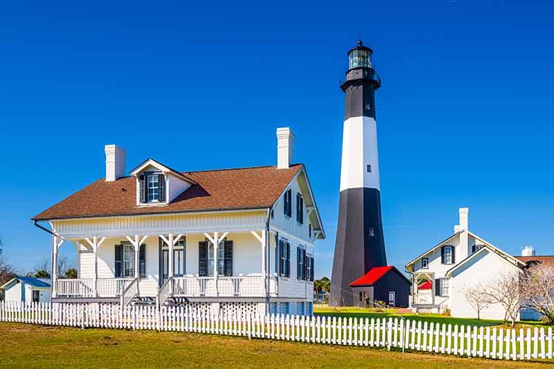 national historic landmarks georgia tybee island lighthouse