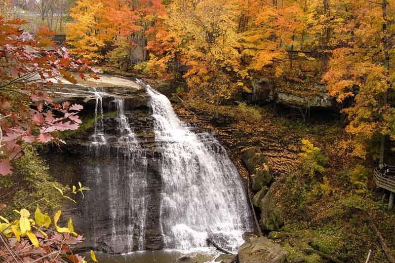 natural ohio landmarks brandywine falls