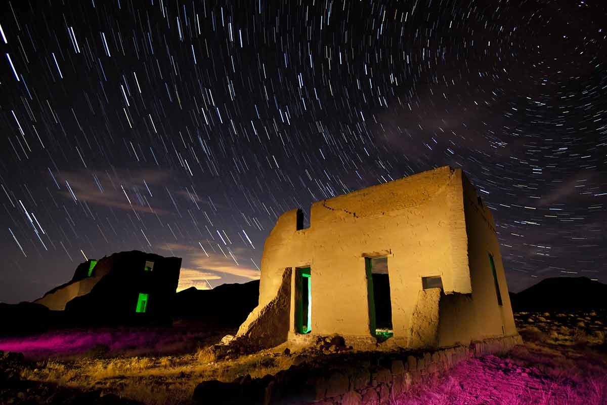 nevada monuments fort churchill is stunning with the stars in the sky