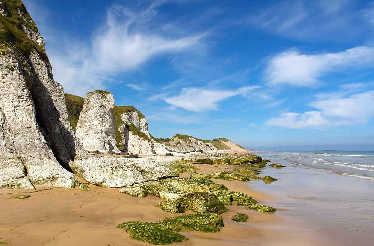 Whiterocks beach is one of the places to visit in northern ireland